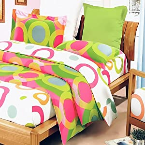 Blancho Bedding - [Rhythm of Colors] 100% Cotton 2PC Mini Comforter Cover/Duvet Cover Set (Twin Size)