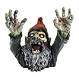 Design Toscano CL6565 Zombie Gnombie Gothic Decor Garden Gnome Graveyard Statue, 11 Inch, Full Color