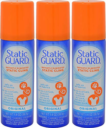 Static Guard 1.4 Ounce Travel Size - Pack of 3 (Anti Static For Clothes)