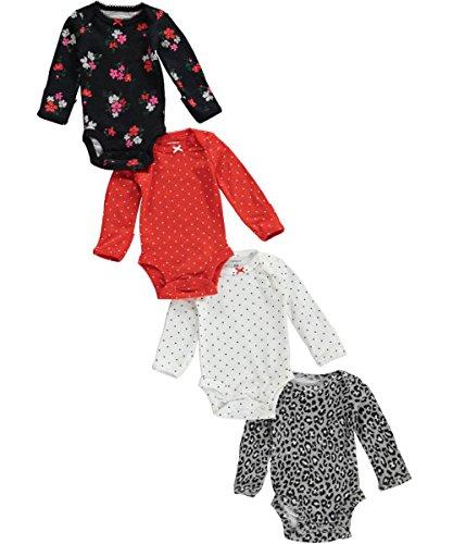 Carters Girls Sleeve Bodysuits Multi