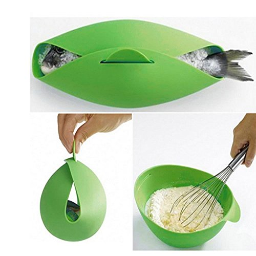 Hello Shop Best New 1Pc Silicone Fish Kettle Folding Steamer Microwave Poacher Cooker Food Vegetable Bowl Basket Kitchen Cooking Tools Hello-Shop HS-JJYP-261