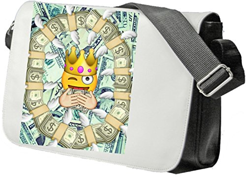 "Sacs à bandoulière ""Reicher Smiley avec des dollars Euros King"", Cartable- sac de sport- sac à dos- Smiley- Emoji- Astuces de Noël"