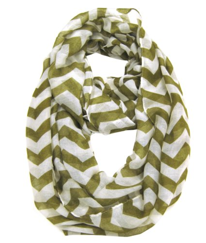 [Modadorn Accessories Nautical Lightweight Chevron Infinity Khaki Scarf] (Womens Halloween Ideas)