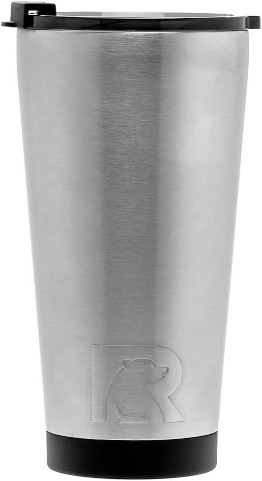 RTIC 28 Double Wall Vacuum Insulated Pint Tumbler, 16 oz, Stainless Steel