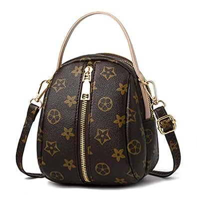 KNUS Small Shoulder Bag for Women Designer Crossbody Purse Leather Handbag (Style 1 beige)