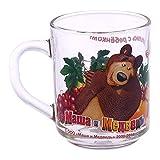 Masha and the Bear Fruit Basket Children's Glass