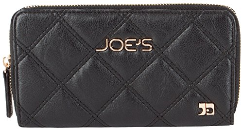 Fully Lined Quilted Wallet - Joe's Jeans Diamond Quilted Zip Around Wallet - Black