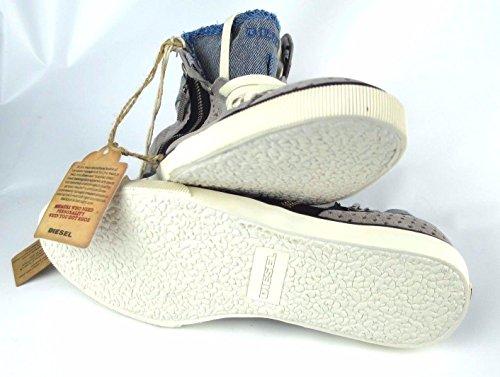 DIESEL Sneakers BEACH PIT W Gr.; EUR 36 / USA 6 Leder Damen Frauen Schuhe Woman Shoes Grau Y01011 P0564 H1278