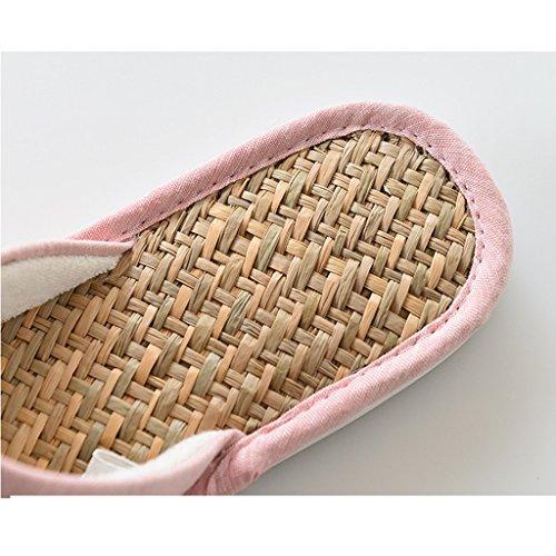 Rutschfeste Atmungsaktive Lan MA Indoor Sommer Wasserdichte Gras Schuhe Rosa Schuhe Komfortable DWW Hausschuhe qxvnwgn