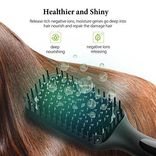 Hair Straightening Brush, GLAMFIELDS Electrical Heated Brush Irons Hair Straightener Benifits