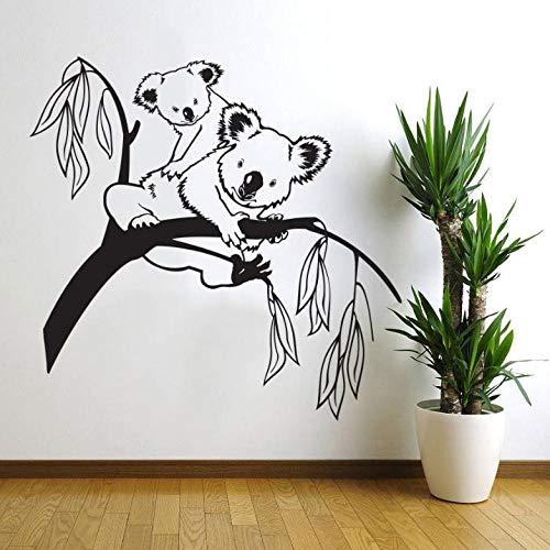 wsydd Tree Branches Koala Bear Baby Nursery Room Wall Decal Art Decor Vinyl Mural 62X60cm (Holz 4 Sie)