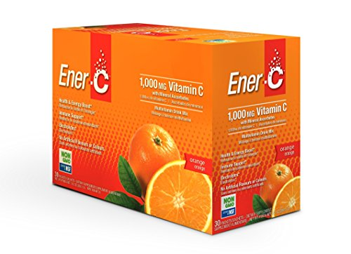 (Ener-C Effervescent Multivitamin Non-GMO Gluten-Free Vegan Powdered Fruit Juice Drink Mix for Immune Support and Hydration with Electrolytes Orange Flavor 30)