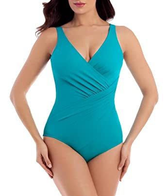 8883b8c757f6e Miraclesuit Oceanus DD-Cup Underwire One Piece Swimsuit (6513388) at Amazon  Women s Clothing store