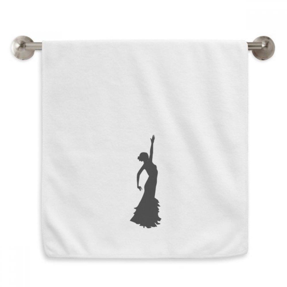 DIYthinker Folk Dance Performance Dancer Circlet White Towels Soft Towel Washcloth 13x29 Inch