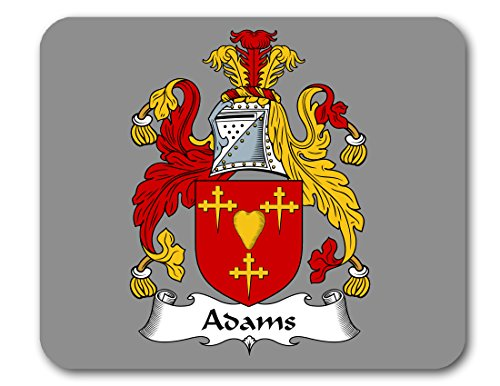 Adams Coat of Arms/Adams Family Crest Mousepad by Carpe Diem Designs, Made in the (Adams Arm Pads)