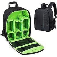Camera Backpack DSLR Hiking Camera Bag Waterproof for Canon, Nikon, Sony, Olympus, Samsung, Panasonic, Pentax Cameras (Green)