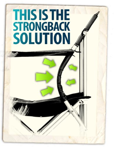 STRONGBACK Elite Folding Camping Chair with Lumbar Support, Lime Green