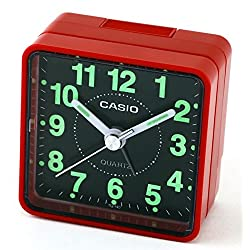 Casio TQ140-4D Black Dial Easy Reader Table Top Travel Alarm Clock