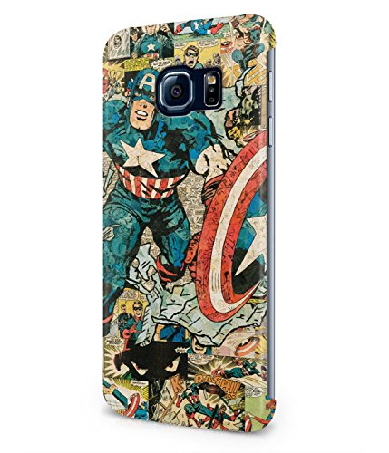 Captain America Comics The Avengers Superhero Plastic Snap-On Case Cover Shell For Samsung Galaxy S6 EDGE