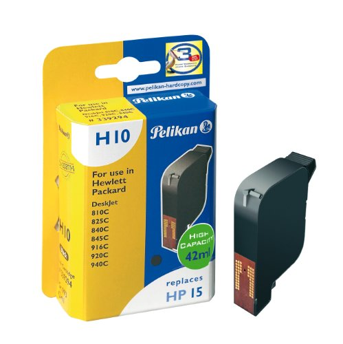Pelikan Printer Ink - Pelikan Inkjet Cartridge H10 replaces HP 15, black, 42 ml