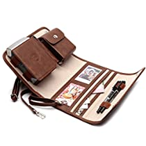Portable Photo Printer Case for Fujifilm INSTAX SHARE SP-2 Smart Phone Printer ,Carry on Bag (Brown)