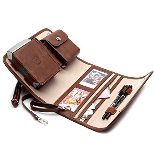 Portable Photo Printer Case For Fujifilm Instax Share Sp 2 Smart Phone Printer  Carry On Bag  Brown