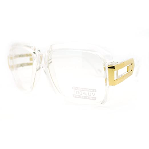 c42a86ee6c4 Image Unavailable. Image not available for. Color  MLC Eyewear Oversized  Rectangular Hip Hop Nerdy Clear ...