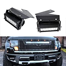 iJDMTOY 36W CREE High Power LED Fog Light Kit w/ Bumper Metal Mounting Brackets For 2010 2011 2012 2013 2014 Ford F150 Raptor
