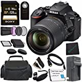 Nikon D5600 DSLR Camera with 18-140mm Lens (Black) 1577 + Lithium Ion Battery + Charger + Sony 32GB SDHC Card + Mini HDMI Cable + Carrying Case + Remote + Memory Card Wallet + Card Reader Bundle For Sale