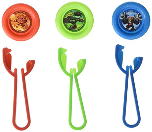 "Amscan Skylanders Disc Shooters Birthday Party Toy Favors (12 Pack), 4 1/8"" x 2"", Multicolor"
