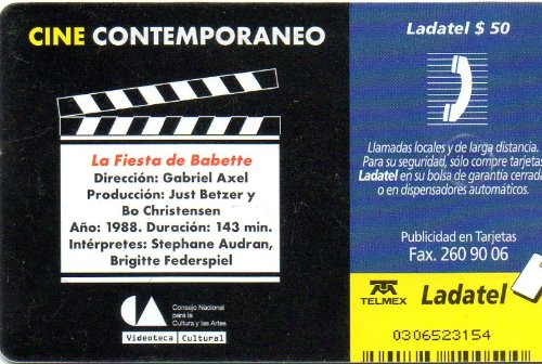 Amazon.com: Babettes Gaestebud Mexican Ladatel Phone Card La Fiesta De Babettes Fest G Axel: Cell Phones & Accessories