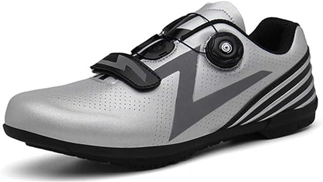 LY CROWM Zapatillas de Ciclismo de Carretera para Adultos ...