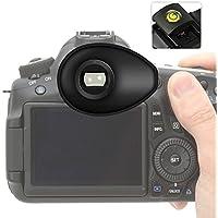 First2savvv DSLR SLR-Kamera Gummi Augenmuschel-Sucher für Nikon D750 D610 D600 D500 D300S D7200 D7100 D7000 D90 D5500 D5300 D5200 D5000 D3400 D3300 D3200 D3100 D700 D300 D200 D100 D80 D70 D60 D70 D60 DSLR Camera + gradienter -QJQ-TX-P