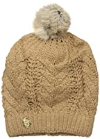 Vince Camuto Women's Cable Cardigan Stitch Pom Hat, Egret, One Size