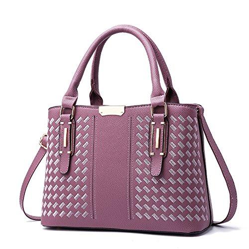 bolsa la colgada Bolso Pink bordado Violet individual del hombro de hombro colgada Hombro Hot XWAN qITAXSA