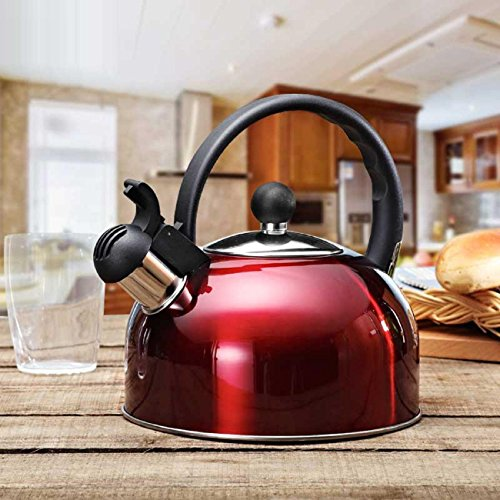 GAOJIAN Stainless Steel 2.5L Water Kettle Induction Cooker Camping Kettles Stove Whistling Water Gas Teapot Cooking Tools Kitchen , d - 2.5l Whistling Kettle