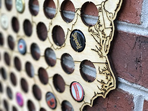 Natural Wood Bottle Cap Map Holder FREE SHIPPING by West Georgia Cornhole (Image #2)