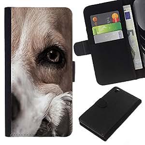 Stuss Case / Funda Carcasa PU de Cuero - Dog Canaan Pointer Golden Retriever - HTC DESIRE 816