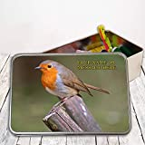 Personalised Robin Sh212 Sewing Tin Kit ~ Needles/buttons/Cotton ~ Storage Box Gift by Krafty Gifts