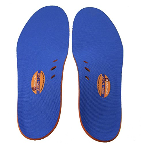 10 Seconds Arch 1000 Insoles, M 11 - 12 by Ten Seconds