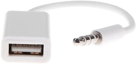 date de sortie haute couture grande vente de liquidation KaiYuan Câble convertisseur prise audio auxiliaire 3,5 mm mâle vers USB 2.0  femelle - Pour voiture/MP3