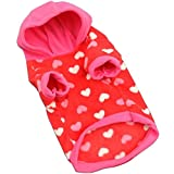 Cheap Joylive Peach Hearts Hoodie Warm Autumn Puppy Coat Rose Red Winter Hooded Thermal Colorful Casual