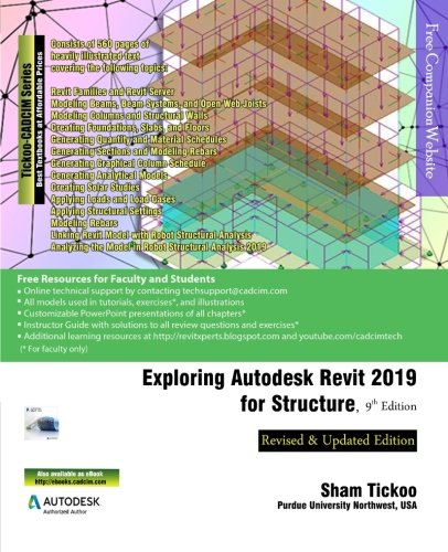 Exploring Autodesk Revit 2019 for Structure, 9th Edition