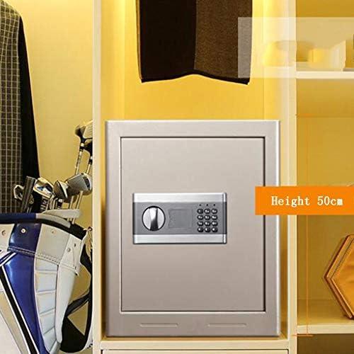 パーツボックス 安全なロータリーパスワードオープンホームベッドルーム小さなセキュリティH50cmパスワードオフィスメタルセーフティボックス貴重品 (Color : A, Size : 38*31*50cm)
