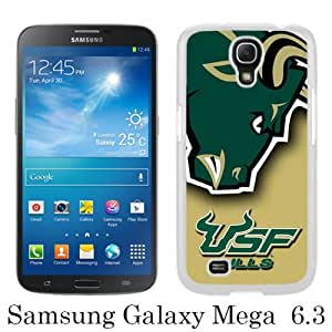Popular Samsung Galaxy Mega 6.3 I9200 I9205 Case ,NCAA American Athletic Conference AAC Football South Florida Bulls 6 white Samsung Galaxy Mega 6.3 I9200 I9205 Cover Beautiful And Durable Designed Case