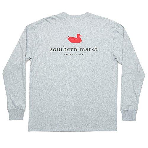 Southern Marsh Light Gray Authentic Long Sleeve T-Shirt-Medium (Southern Marsh Lab)