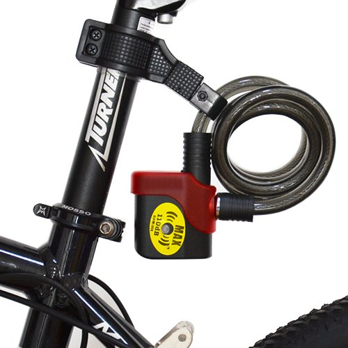 Amazon.com : Black Security 110Db Alarm Bike Cable Lock ...