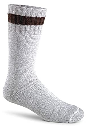 Fox River Therm-O-Ragg Mid-Calf Wool Cold Weather Socks, X-Large, Brown Tweed 2273