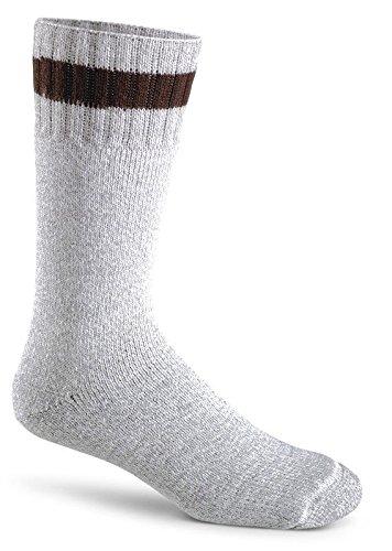 Fox River Therm-O-Ragg Mid-Calf Wool Cold Weather Socks, Large, Brown - Appleton Fox