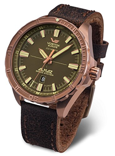 Vostok-Europe Almaz Bronze Automatic Watch NH35A/320O516